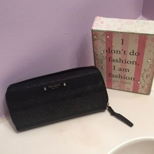 Black wallet Kate Spade